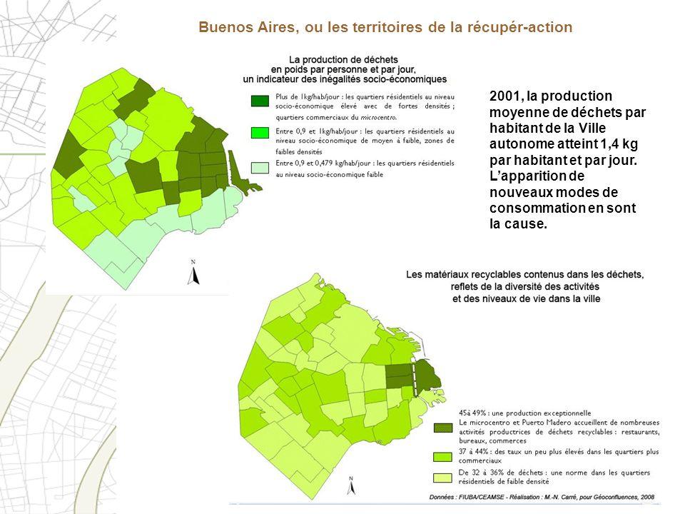 Buenos Aires, ou les territoires de la récupér-action 2001, la production moyenne de déchets par habitant de la Ville autonome atteint 1,4 kg par habi