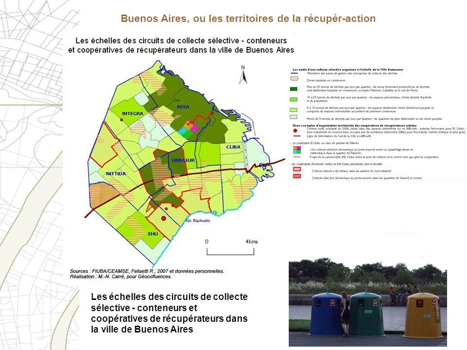 Les échelles des circuits de collecte sélective - conteneurs et coopératives de récupérateurs dans la ville de Buenos Aires Buenos Aires, ou les terri