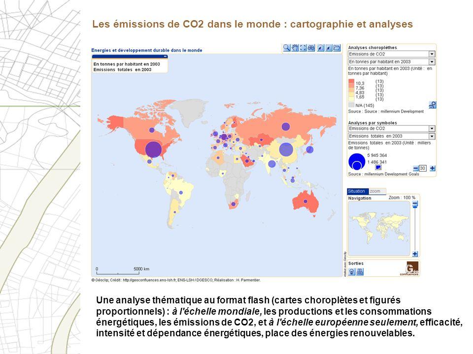 Une analyse thématique au format flash (cartes choroplètes et figurés proportionnels) : à l'échelle mondiale, les productions et les consommations éne