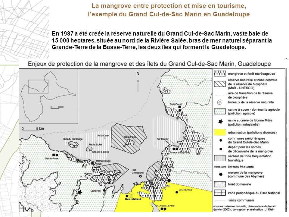 En 1987 a été créée la réserve naturelle du Grand Cul-de-Sac Marin, vaste baie de 15 000 hectares, située au nord de la Rivière Salée, bras de mer nat