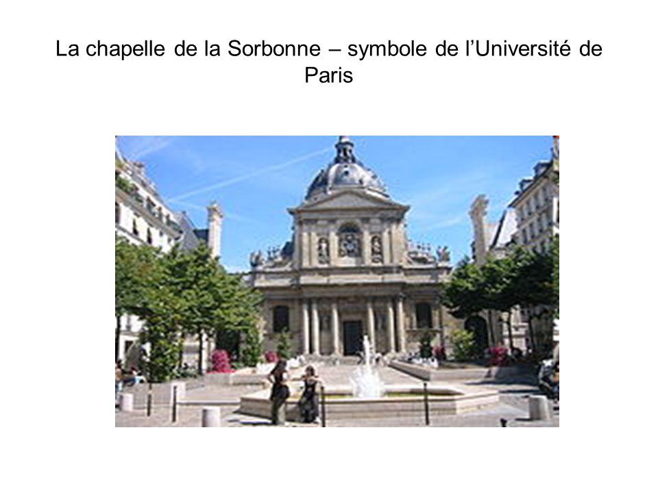 La chapelle de la Sorbonne – symbole de lUniversité de Paris
