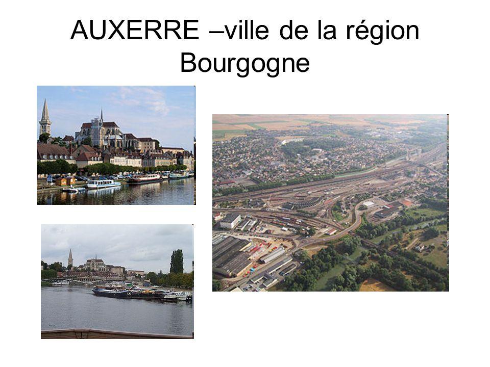 AUXERRE –ville de la région Bourgogne