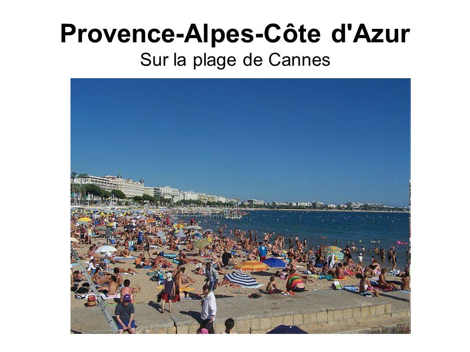 Provence-Alpes-Côte d'Azur Sur la plage de Cannes