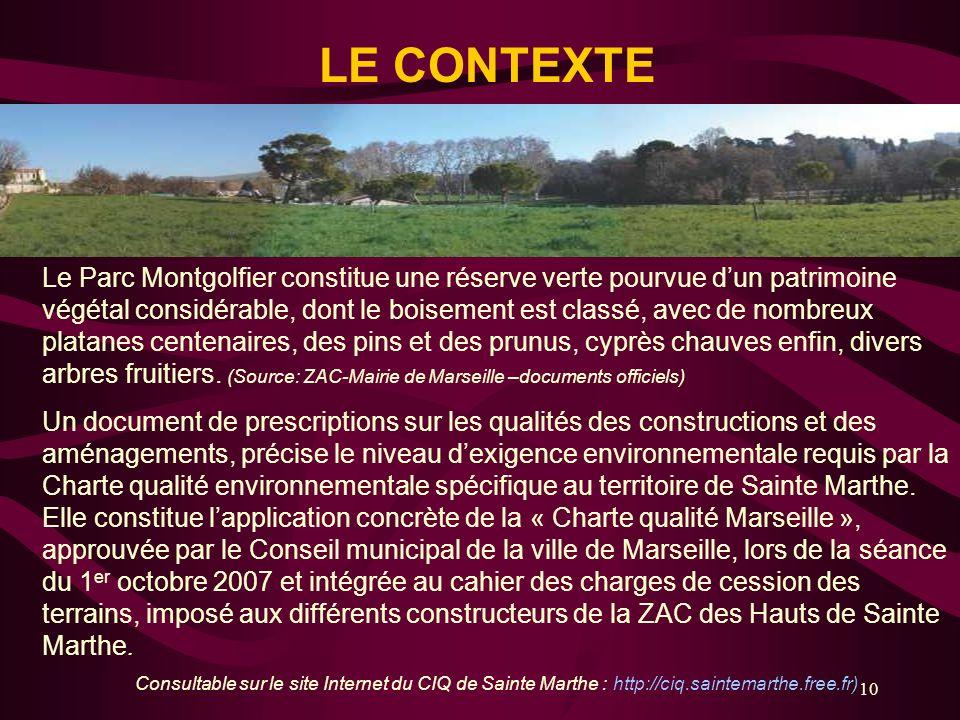 10 Le Parc Montgolfier constitue une réserve verte pourvue dun patrimoine végétal considérable, dont le boisement est classé, avec de nombreux platane