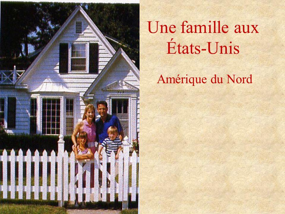 Une famille aux États-Unis Amérique du Nord