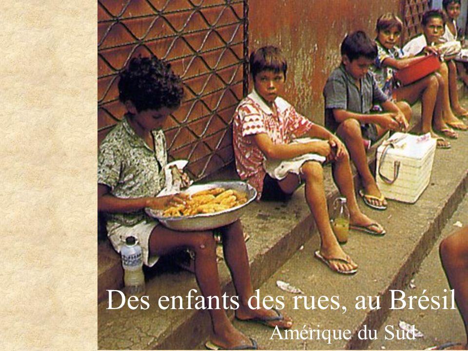 Des enfants des rues, au Brésil Amérique du Sud