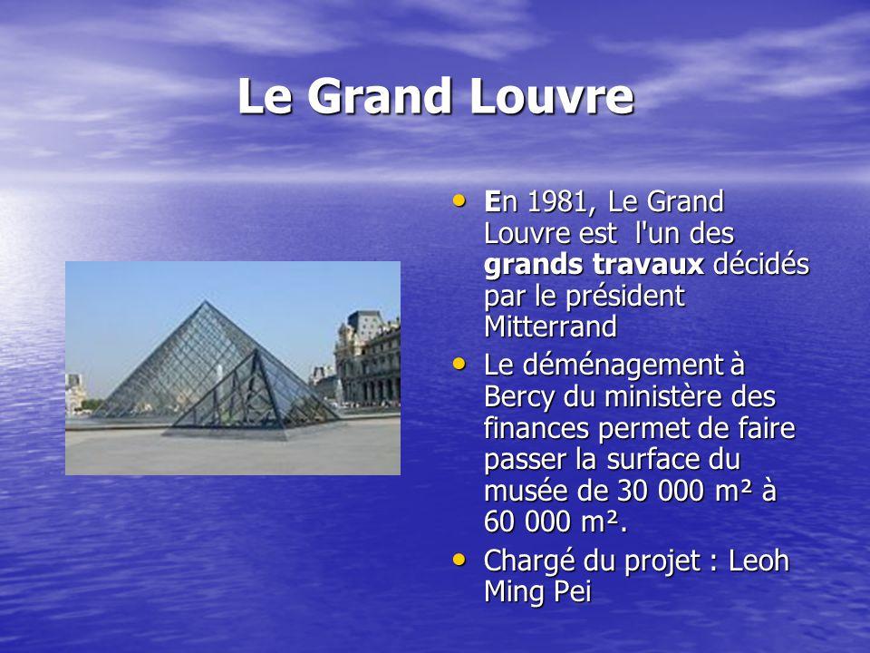Le Grand Louvre En 1981, Le Grand Louvre est l'un des grands travaux décidés par le président Mitterrand En 1981, Le Grand Louvre est l'un des grands