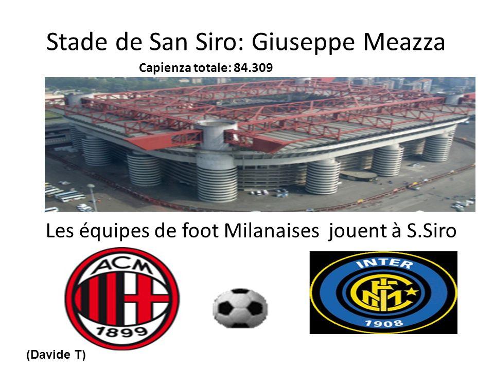 Stade de San Siro: Giuseppe Meazza Les équipes de foot Milanaises jouent à S.Siro Capienza totale: 84.309 (Davide T)