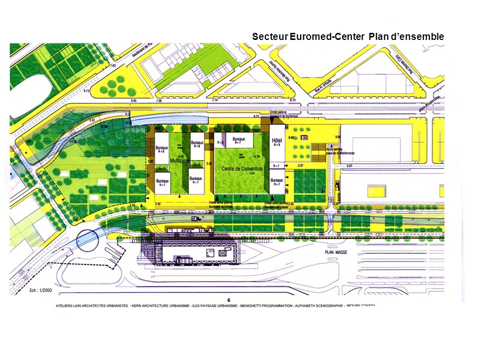 Secteur Euromed-Center Plan densemble