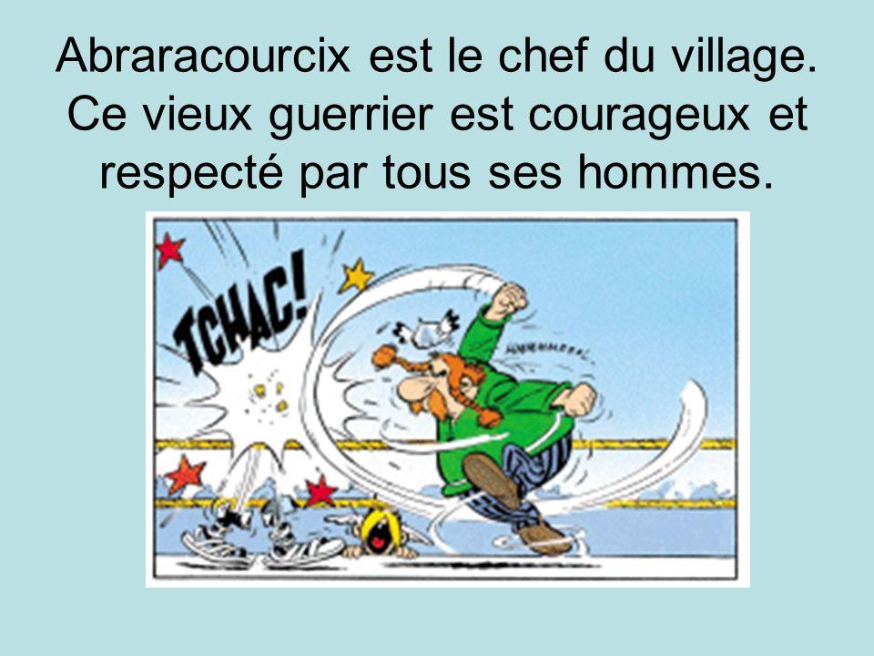 Abraracourcix est le chef du village. Ce vieux guerrier est courageux et respecté par tous ses hommes.