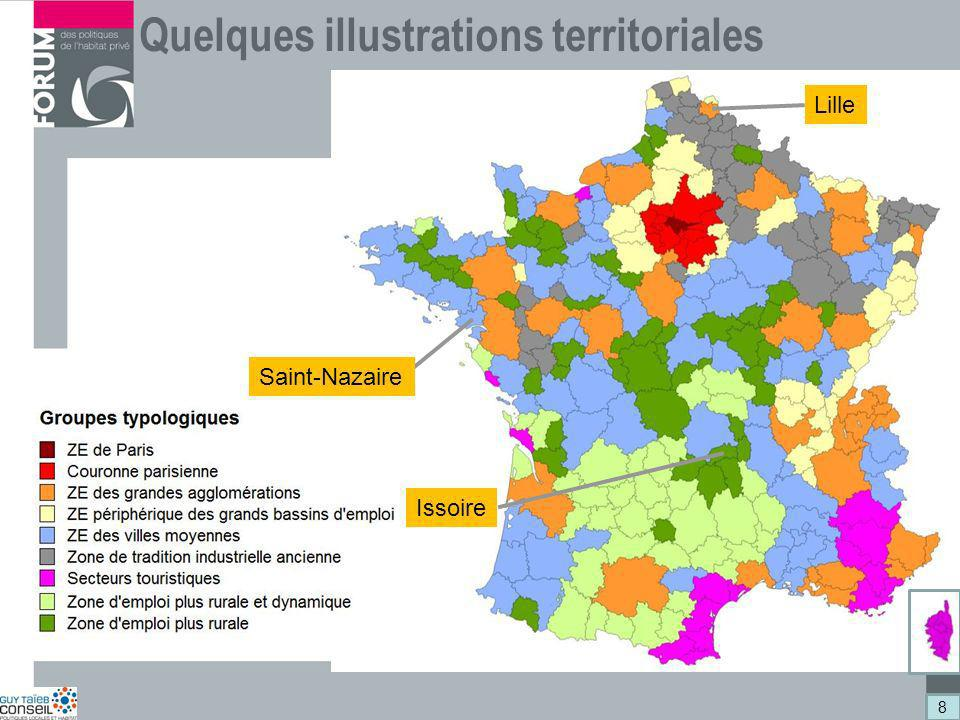 Quelques illustrations territoriales Lille Saint-Nazaire Issoire 8