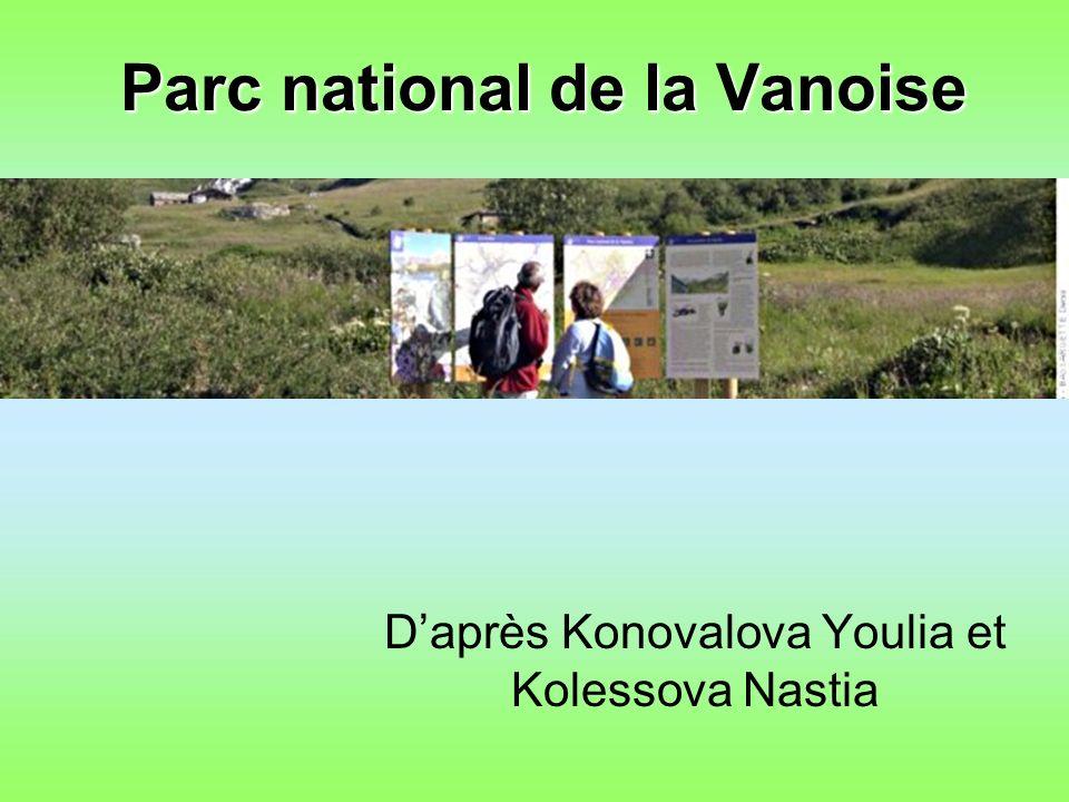 Parc national de la Vanoise Daprès Konovalova Youlia et Kolessova Nastia