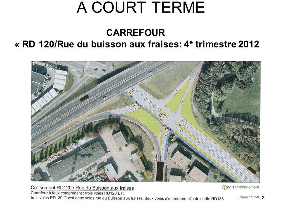 5 A COURT TERME CARREFOUR « RD 120/Rue du buisson aux fraises: 4 e trimestre 2012
