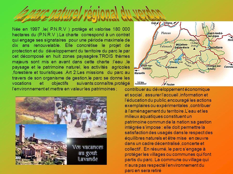 Née en 1997,le( P.N.R.V ) protège et valorise 180 000 hectares du (P.N.R.V ).La charte correspond à un contrat qui engage ses signataires pour une pér