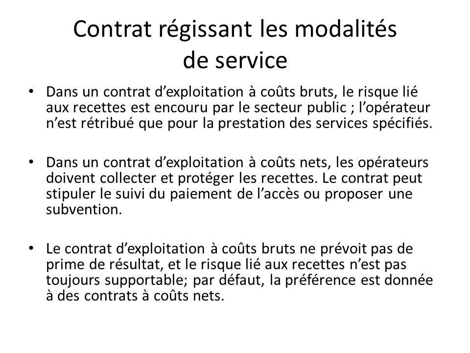 Structure tarifaire et modalités de collecte des recettes Tarifs modulés pour assurer la viabilité financière.