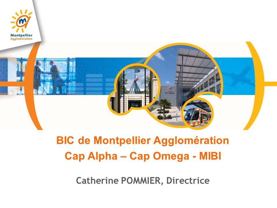 Le BIC de Montpellier Agglomération Créé en 1987, agréé Business & Innovation Center en 1988 par lEurope Award International 2007 du « Meilleur Incubateur » décerné par NBIA Labellisé « Soft Landings » pour l accompagnement d entreprises internationales 490 entreprises innovantes, plus de 4400 emplois et un taux de pérennité > 80 % Le Languedoc-Roussillon au 3è rang national du concours de création dentreprises technologiques du Ministère de la Recherche Certifié Iso 9001 vs 2008 CAP ALPHA (1987) Sciences de la vie et Cleantech 3500 m² CAP OMEGA (2004) Technologies de linformation et de la communication 5300 m² MIBI inauguré en Juin 2011