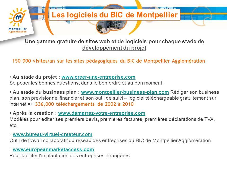 Les logiciels du BIC de Montpellier Au stade du projet : www.creer-une-entreprise.com Se poser les bonnes questions, dans le bon ordre et au bon momen