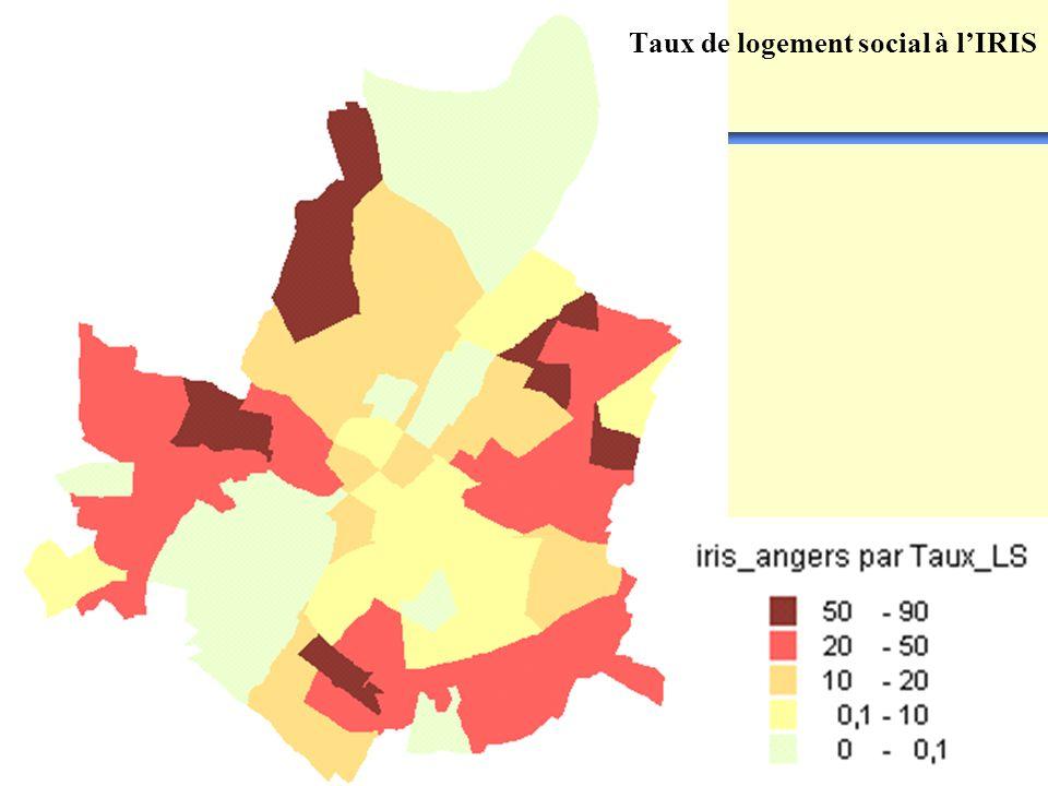 CERTULes Systèmes dInformation Géographique Taux de logement social à lIRIS