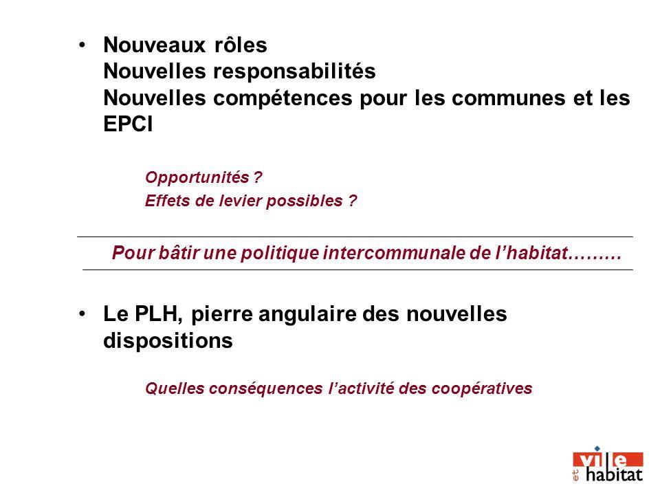 Nouveaux rôles Nouvelles responsabilités Nouvelles compétences pour les communes et les EPCI Opportunités ? Effets de levier possibles ? Pour bâtir un