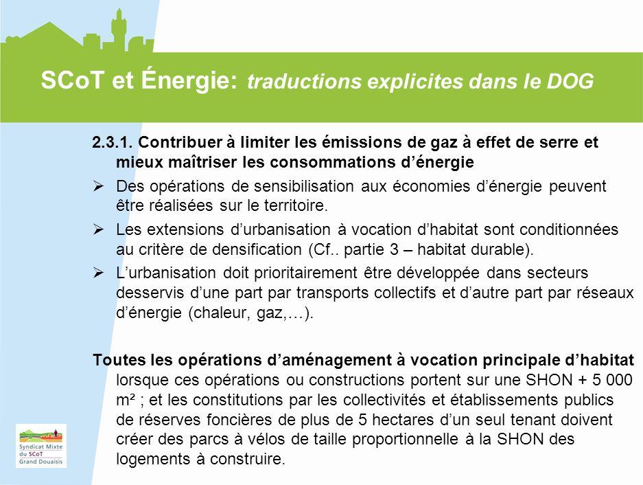 18 2.3.1. Contribuer à limiter les émissions de gaz à effet de serre et mieux maîtriser les consommations dénergie Des opérations de sensibilisation a
