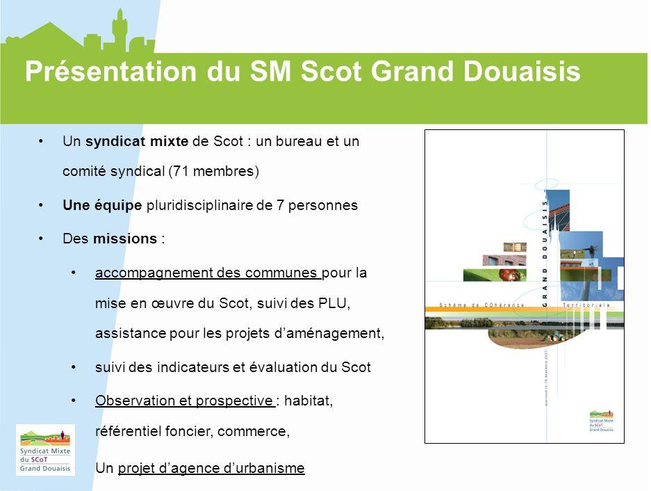 4 Présentation du SM Scot Grand Douaisis Un syndicat mixte de Scot : un bureau et un comité syndical (71 membres) Une équipe pluridisciplinaire de 7 p