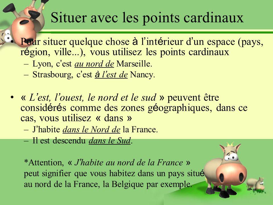 Kierunki świata - słownictwo 3 - Francuski przy kawie