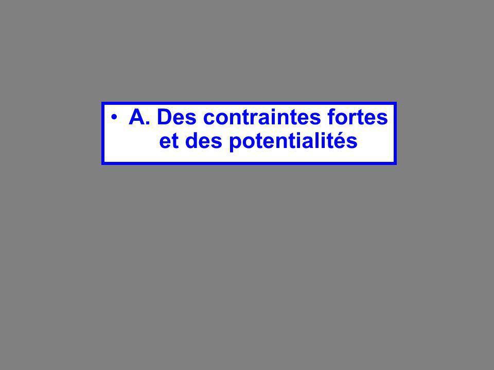 A. Des contraintes fortes et des potentialités