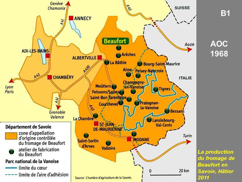 La production du fromage de Beaufort en Savoie, Hâtier 2011 B1 AOC 1968