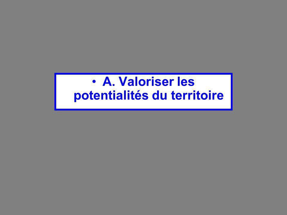 A. Valoriser les potentialités du territoire
