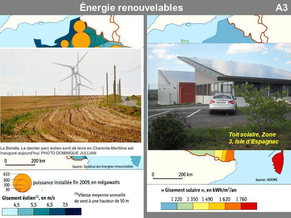 A3Énergie renouvelables Toit solaire, Zone 3, Isle dEspagnac