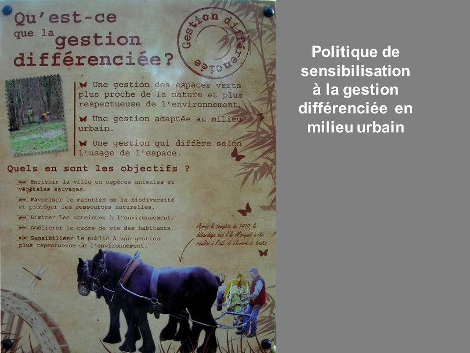 Politique de sensibilisation à la gestion différenciée en milieu urbain