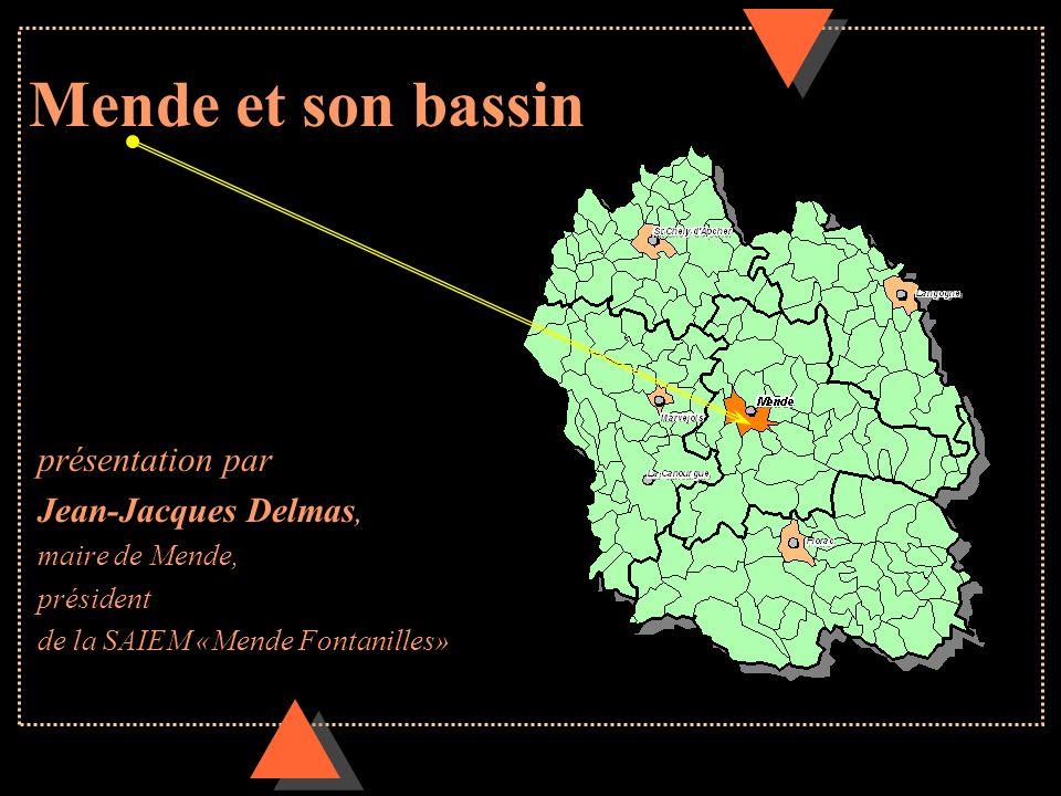 Mende et son bassin présentation par Jean-Jacques Delmas, maire de Mende, président de la SAIEM «Mende Fontanilles»