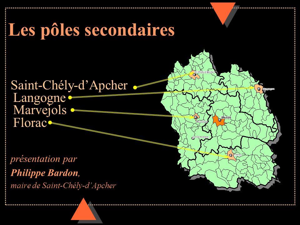 Les pôles secondaires Saint-Chély-dApcher Langogne Marvejols Florac présentation par Philippe Bardon, maire de Saint-Chély-dApcher