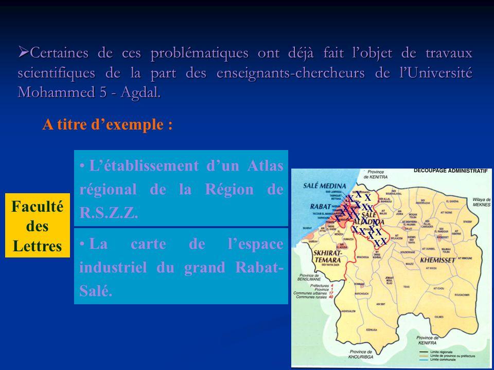 Le littoral de salé et de la Maâmora, les héritages et la Morphodynamique. Faculté des Lettres