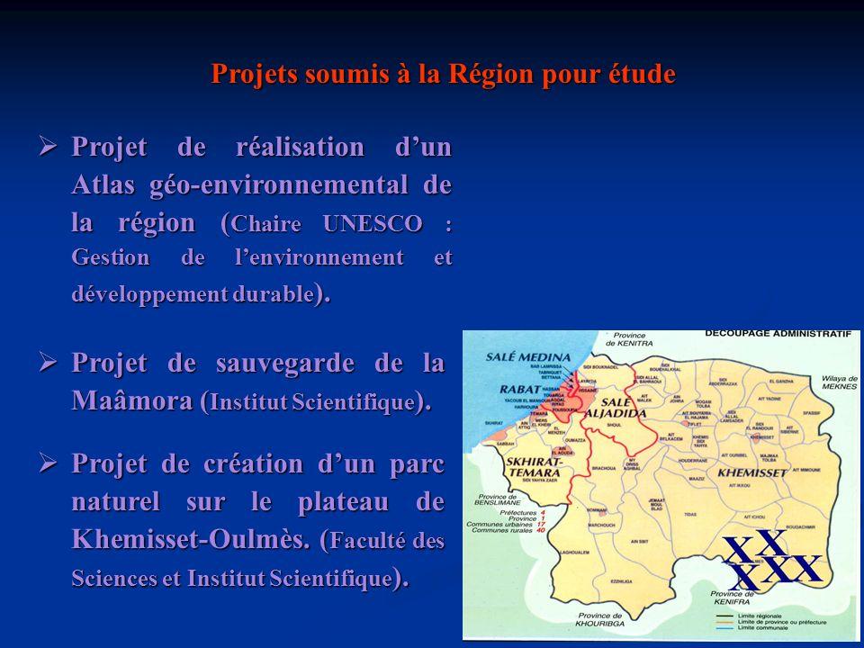 Projet détude dimpacts sur lenvironnement du projet du Parc Industriel Régional de Aïn Zohra ( EMI, Faculté des Sciences et Institut Scientifique ).