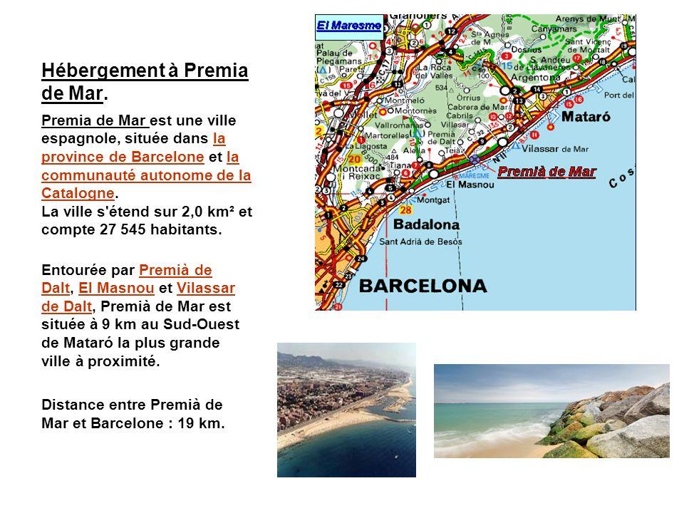 Hébergement à Premia de Mar. Premia de Mar est une ville espagnole, située dans la province de Barcelone et la communauté autonome de la Catalogne. La