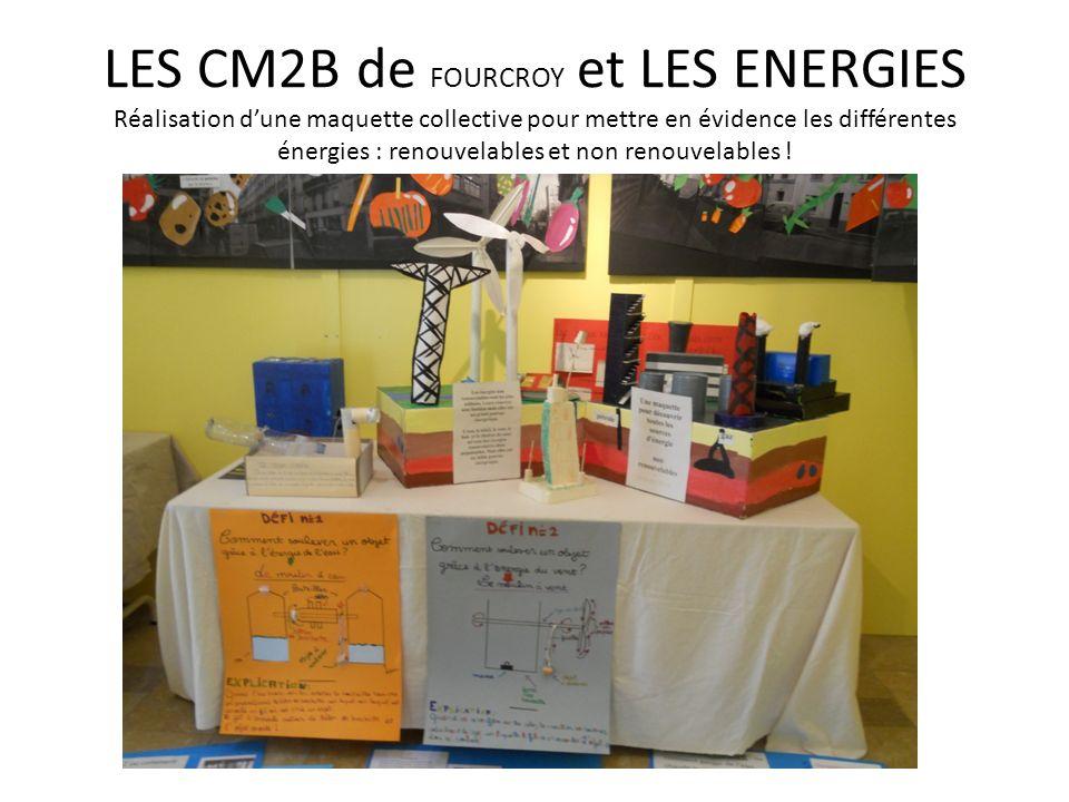 LES CM2B de FOURCROY et LES ENERGIES Réalisation dune maquette collective pour mettre en évidence les différentes énergies : renouvelables et non reno