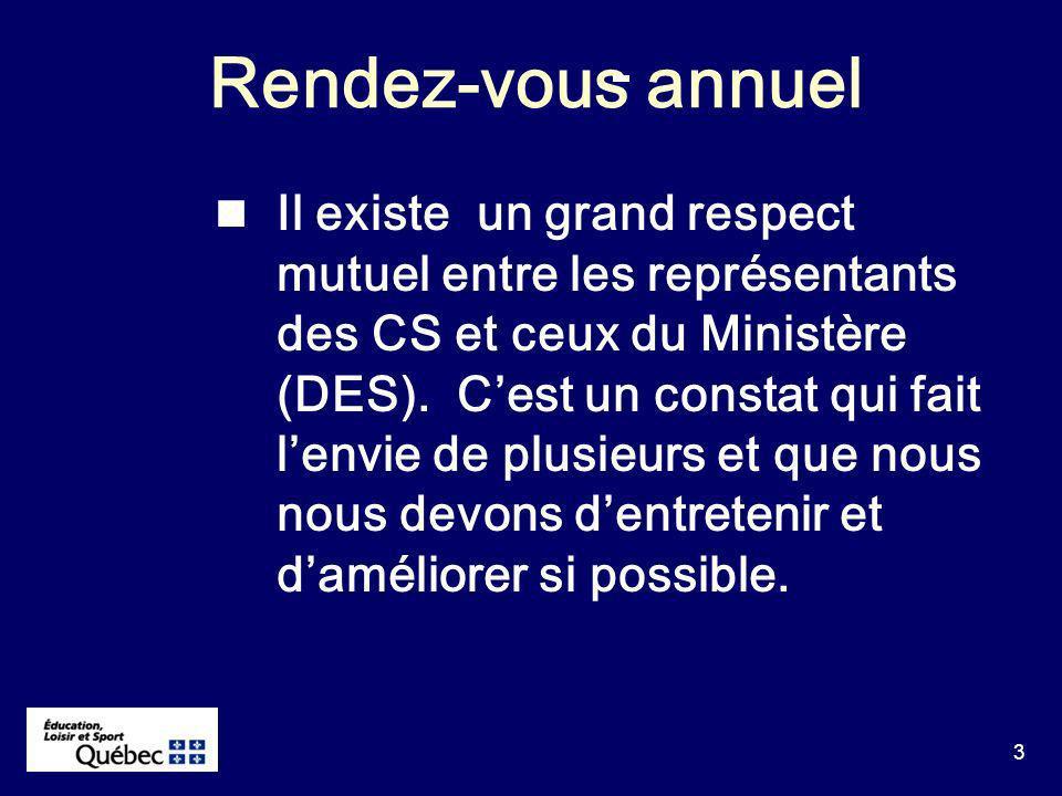 64 1.SIMACS Le MELS na pas dobjection à ce que certaines CS décident de leur propre calendrier.