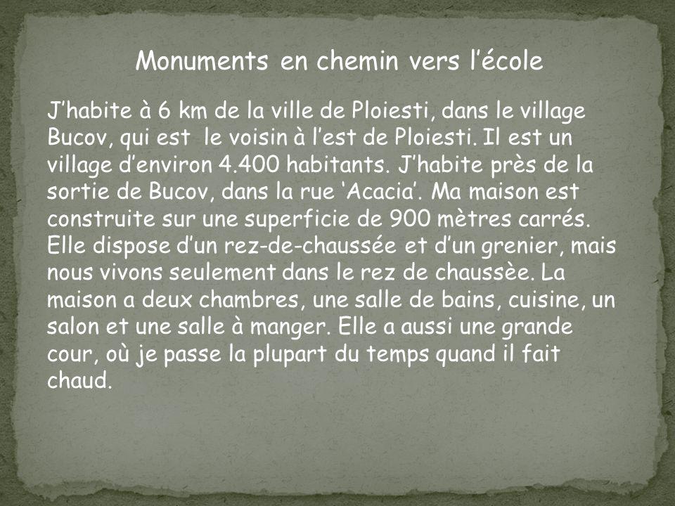 Monuments en chemin vers lécole Jhabite à 6 km de la ville de Ploiesti, dans le village Bucov, qui est le voisin à lest de Ploiesti.