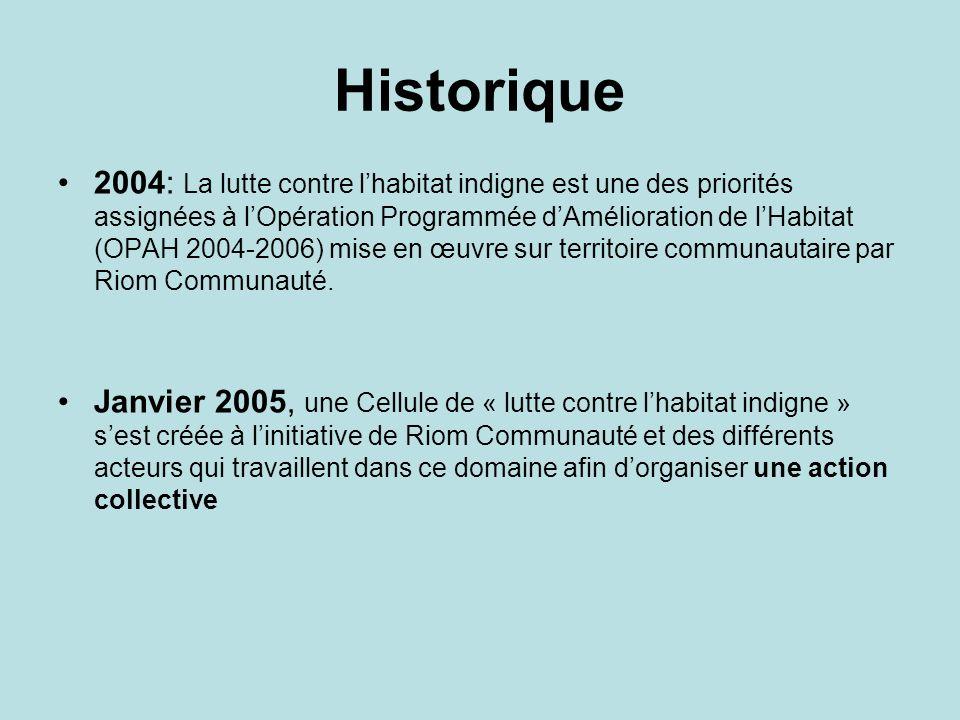 Historique 2004: La lutte contre lhabitat indigne est une des priorités assignées à lOpération Programmée dAmélioration de lHabitat (OPAH 2004-2006) m
