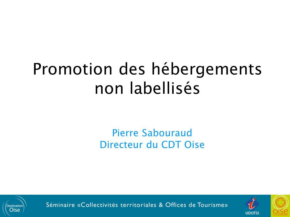 Promotion des hébergements non labellisés Pierre Sabouraud Directeur du CDT Oise