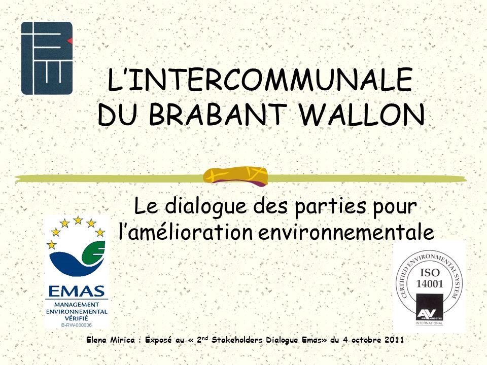 Plan de lexposé Brève présentation de lIBW Le SME certifié La participation du personnel IBW Le dialogue avec la population Amélioration de la mobilité à travers un groupe de travail