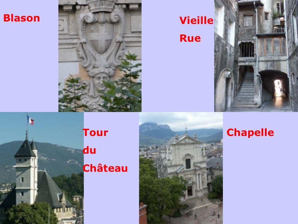 Blason Vieille Rue Tour du Château Chapelle