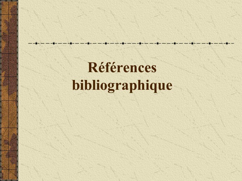 Références bibliographique