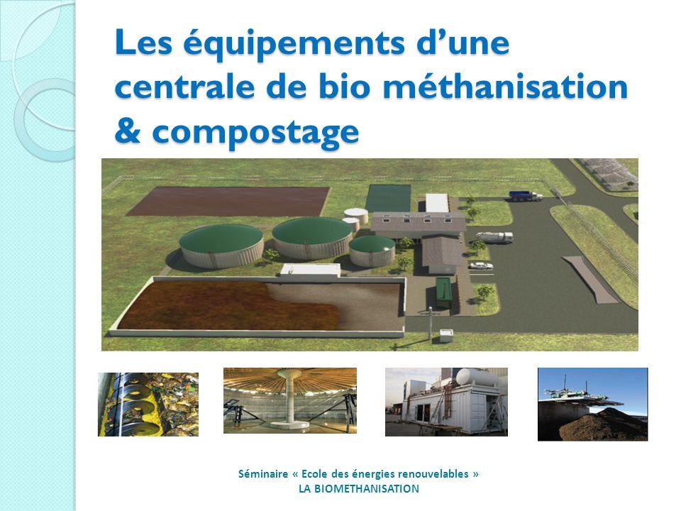 Les équipements dune centrale de bio méthanisation & compostage Séminaire « Ecole des énergies renouvelables » LA BIOMETHANISATION