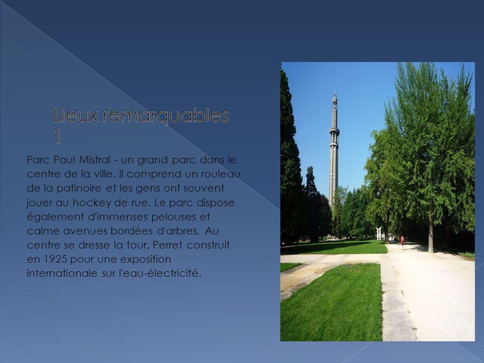 Parc Paul Mistral - un grand parc dans le centre de la ville.
