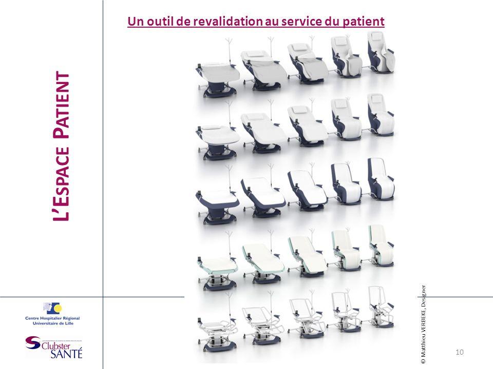 LE SPACE P ATIENT Un outil de revalidation au service du patient © Matthieu VERBEKE, Designer 10