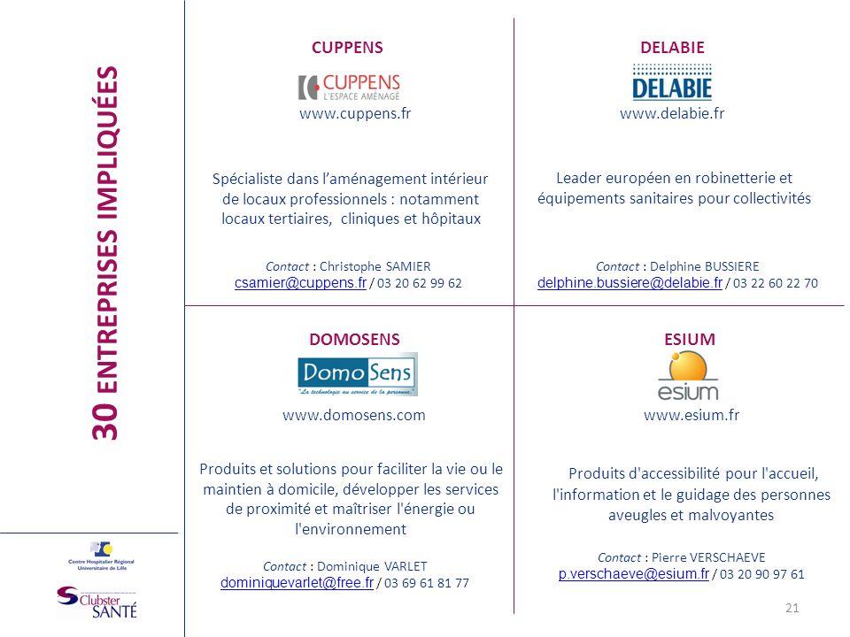 CUPPENS www.cuppens.fr Spécialiste dans laménagement intérieur de locaux professionnels : notamment locaux tertiaires, cliniques et hôpitaux DELABIE w