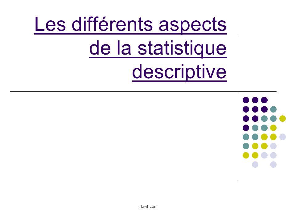 Les différents aspects de la statistique descriptive tifawt.com