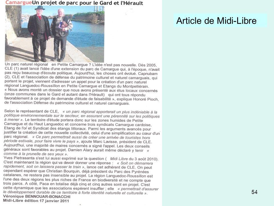 54 Article de Midi-Libre